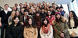 Foto (Vanessa Dreibrodt, Universität Paderborn): Fördern die interkulturelle Kompetenz der Studierenden des ASBE-Programms mit innovativen Lernformaten. Im Kreis der Austauschstudenten: Prof. Dr. Stefan Jungblut  (1. Reihe, links), Prof. Dr. Peter F.E.