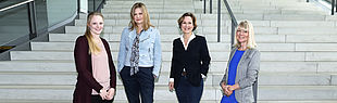 Marketing team: Leonie Oberheuser, Nicola Danielzik, Dr. Christina Cramer, Ramona Wiesner