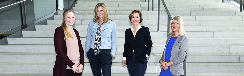 Marketing team: Leonie Oberheuser, Nicola Danielzik, Dr. Christina Cramer, Ramona Wiesner