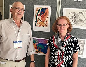 Foto (Copyright Prof. Andrea Karpati): Prof. Dr. Jutta Ströter-Bender, Universität Paderborn, und Prof. Dr. Kunibert Bering, Kunstakademie Düsseldorf.