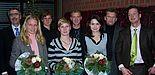 Foto (Mark Heinemann): Ausgezeichnete Sportler: Lilli Schwarzkopf (2.v.l.), Roman Schulte-Zurhausen, Meike Zöpnek, Florian Müller (5.v.l.) wurden für ihre Erfolge im Spitzensport geehrt. Zöpnek und Carolin Köster (3.v.r.) zudem für ihre hervorragend