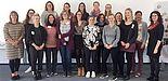 Foto (Mentoring-Programm): Die Auftaktveranstaltung bildete für 17 Doktorandinnen den Startpunkt zur interdisziplinären Vernetzung und zum Austausch mit einer externen Mentorin.