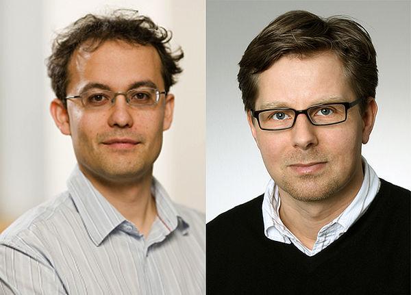 Foto (Universität Paderborn) Prof. Dr. Thomas Kühne und Prof. Dr.-Ing. Guido Grundmeier.