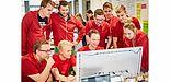 """Foto (Universität Paderborn, TecUP): """"KwiqJobs"""", das erfolgreiche Gewinnerteam aus dem letzten Jahr."""