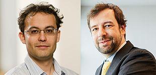 Fotos (Universität Paderborn): Prof. Dr. Thomas D. Kühne (l.) undProf. Dr. Christian Plessl, Universität Paderborn.