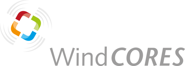 Abbildung (Quelle: WestfalenWIND IT): Logo WindCORESLogo WindCORES