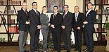 Foto (Universität Paderborn): Dr. Klaus Schüler, Aydin Celik, Jenny Bartuli, Eugen Dimant, Nico Kirwald, Prof. Dr. Wilfried Böhler, Dr. Volker Seiler (v. l.)