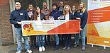 Foto (ESG-Mitarbeiterin Irene Klass): Studierendenpfarrerin Heidrun Greine mit dem Team der ESG.