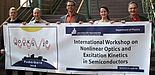 Foto (Universität Paderborn, CeOPP): Das Organisationsteam der NOEKS 10 (v. l.): Dr. Jens Förstner, Dr. Matthias Reichelt, Prof. Dr. Torsten Meier, Simone Lange und Prof. Dr. Artur Zrenner.