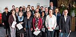 Foto (Costa Belibasakis/TH Köln): Preisübergabe in Anwesenheit von NRW-Wissenschaftsministerin Svenja Schulze, 1. Reihe, 3. von links, links daneben Juliane Fuge. 2. Reihe, 2. von links: Prof. Dr. Niclas Schaper (Vorstandsmitglied der dghd).