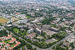 Luftbild Campus der Universität Paderborn, 8. Juli 2016 (Ansicht von Südost)