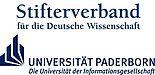 Abbildung: Logos des Stifterverbandes für die Deutsche Wissenschaft e. V. und der Universität Paderborn