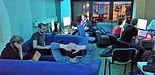 Foto: Teammitglieder von /upb/hack während der Midnight Sun CTF in den Räumen des Vereins C3PB. Der Wettbewerb dauerte 24 Stunden.
