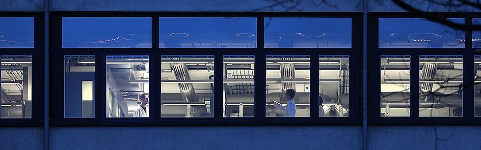 Einblick in die Labore des Gebäudes K.