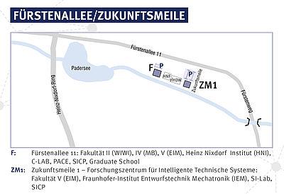 Fürstenallee/Zukunftsmeile der Universität Paderborn