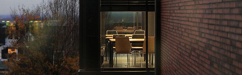 Lernen mit Ausblick im Gebäude Q.