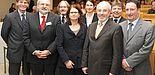 Foto (Universität Paderborn, Martin Decking): Dr. Tegeder, die Professoren Dr. Risch, Dr. Biehler, Dr. Dietz, Dr. Meister, Dr. Roßnagel, Dr. Faust, Dr. Hochmuth