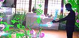 """Grafik (Universität Paderborn): Vision des Forschungsprojektes """"flora robotica"""": Biohybride Gesellschaften aus Pflanzen und Robotern sollen künftig Lebensraum gestalten."""