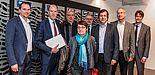 Foto (Universität Paderborn, Kamil Glabica):  HRK-Präsident Prof. Dr. Peter-André Alt (2. v. l.) zu Gast an der Universität Paderborn.