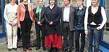 Foto (Martin Decking): Engagiert in der Europa-Zusammenarbeit (v. l.): Bianka Gehler, Tamina Urbaniak, Dr. Annegret Hilligus, Beth Adams-Ray, Prof. Dr. Maria Anna Kreienbaum, Dr. Florian Söll, Barbara Atorf, Judith Knappstein