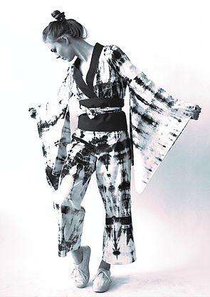 Maike Hübner (2017): Body Pattern. Shibori Färbung auf Baumwolle. Foto: Theresa Müller