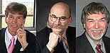 Foto (v. l.): Präsident Prof. Dr. Nikolaus Risch, Kanzler Jürgen Plato und Prof. Dr. Wilfried Hauenschild