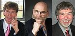 Foto (v. l.): Präsident Prof. Dr. Nikolaus Risch, Kanzler Jürgen Plato,  und Prof. Dr. Wilfried Hauenschild
