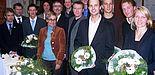 Foto: (Mark Heinemann): (v. li.): Prof. Dr. Bernd Frick, Prof. Dr. Norbert Olivier, Marcel Pillath, Jan Moritz Lichte, Prof. Dr. Kirsten Schlegel-Matthies, Hans Laven, Sebastian Striewe, Prof. Dr. Hans Peter Brandl-Bredenbeck, Arne Steffen, Volker Hegmann