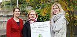 """Foto (Universität Paderborn, Lisa Ahrens): Die Veranstalterinnen der Konferenz """"Demenz und Subjektivität"""": Dr. Sara Strauß, Dr. Daniela Ringkamp und Dr. Leonie Süwolto."""