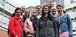 Foto (Alexandra Dickhoff): Mitte September trafen sich einige Alumni aus unterschiedlichen Studiengängen zu einer Campus-Führung wieder.