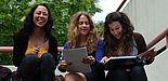 Foto: Drei spanische Austauschstudentinnen des letzten akademischen Jahres an der Universität Paderborn.