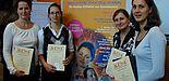Foto: Die Gewinnerinnen der bundesweit ersten NEnA (Nano-Entrepreneurship-Academy): v.l. Dr. Petra Göring, Kathrin Schwirn, Monika Lelonek und Sandra Günther