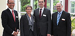 Foto (Infracor, Marl): Die Redner der Abschlusstagung: (v. l.): Thomas Wessel, Edeltraud Glänzer, Dirk Meyer und Prof. Dr. Reinhard Keil