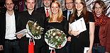 Foto (Universität Paderborn, Patrick Kleibold): Verleihung des Paderborner Preis der Sportwissenschaft: Dr. Daniel Krause (Laudator für Nicole Jasarovski und Manfred Agethen) (v. l.), Manfred Agethen, Olaf Saage, Jennifer Breithecker, Prof. Dr. Hans Pet