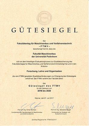 Abbildung: Urkunde