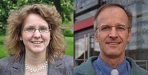 Fotos: Prof. Dr. Christine Silberhorn und Prof. Dr.-Ing. Reinhold Noé