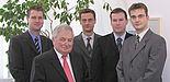 Foto (v. l.): Dr. Helmut Ridder (3 Pi), Prof. Dr. Helmut Potente, Dr. Hans-Peter Heim, Martin Schäfers (jeweils KTP), Stefan Gövert (3 Pi)