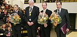 Die neue Spitze der Christian-Albrechts-Universität zu Kiel (v.l.): Prorektor Prof. Thomas Bauer, Rektor Prof. Jörn Eckert, Kanzler Oliver Herrmann und Prorek-tor Prof. Gerhard Fouquet.