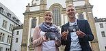 Foto (Birger Berbüsse): Studierendenpfarrer Nils Petrat und Gemeindeassistentin Simone Kornalewski bieten mit dem engagierten Team der KHG auch im Winter wieder zahlreiche Aktionen für junge Leute an. Besonders freuen sie sich auf die vielen Begegnungen