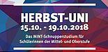 Foto (Universität Paderborn): Plakat der Herbst-Uni 2018