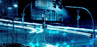 Fotomontage (Universität Paderborn, Kleibold/Pauly): Wissenschaftler der Uni Paderborn wollen Mobilitätsdaten für die Industrie verwertbar machen. Das stellt auch die Weichen für innovative Dienste im Bereich der Mobilität.