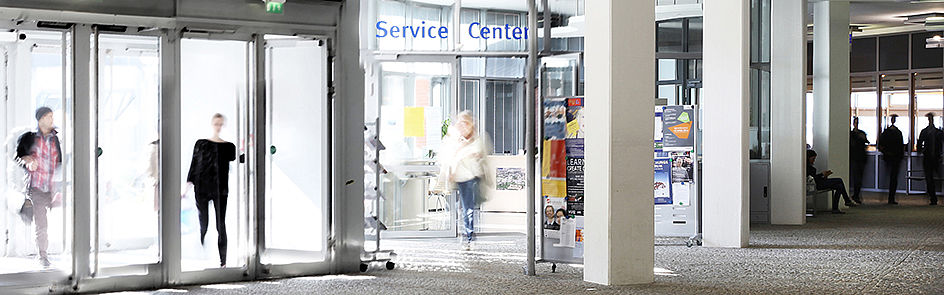 The foyer with the Service Center