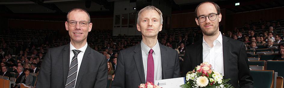 Prof. Dr. Eyke Hüllermeier und Dr.-Ing. Oliver Wallscheid Forschungspreisträger 2019 (Foto: Universität Paderborn, Jennifer Strube)