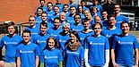Foto (Universität Paderborn, Patrick Kleibold): Auf dem Foto zu sehen sind 33 Läufer von insgesamt 253 Teilnehmern der Universität Paderborn am Osterlauf, die sich auf das große Ereignis am kommenden Samstag freuen und schon seit längerer Zeit dafür