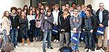 Foto (Universität Paderborn, Martin Decking): Sie interessierten sich vor allem auch für die internationale Ausrichtung der Universität Paderborn: 26 Schülerinnen und Schüler der britischen Prince Rupert School besuchten gestern die Hochschule.