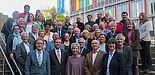 Foto (Universität Paderborn, Simon Ratmann): Erhielten Einblicke in Forschung und Lehre an der Universität: die Mitglieder des Deutsch-Englischen Clubs Paderborn.