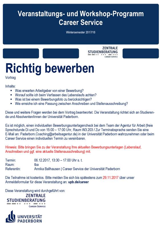Universität Paderborn Termin