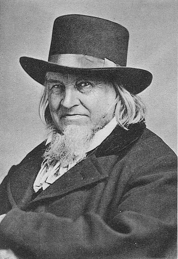 Foto: August Heinrich Hoffmann von Fallersleben (1798-1874)