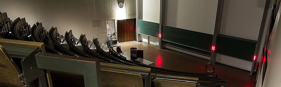 Rare silence – only at night it is quiet in lecture hall C1.