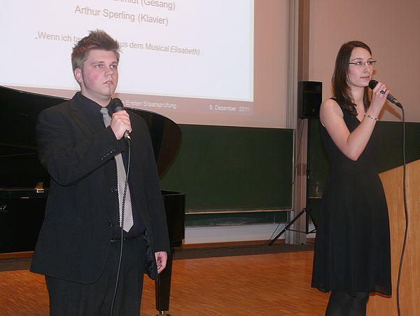 Foto: Stefanie König und Christian Schmidt sorgten (mit Arthur Sperling am Klavier, nicht im Bild) für eine feierliche Stimmung.